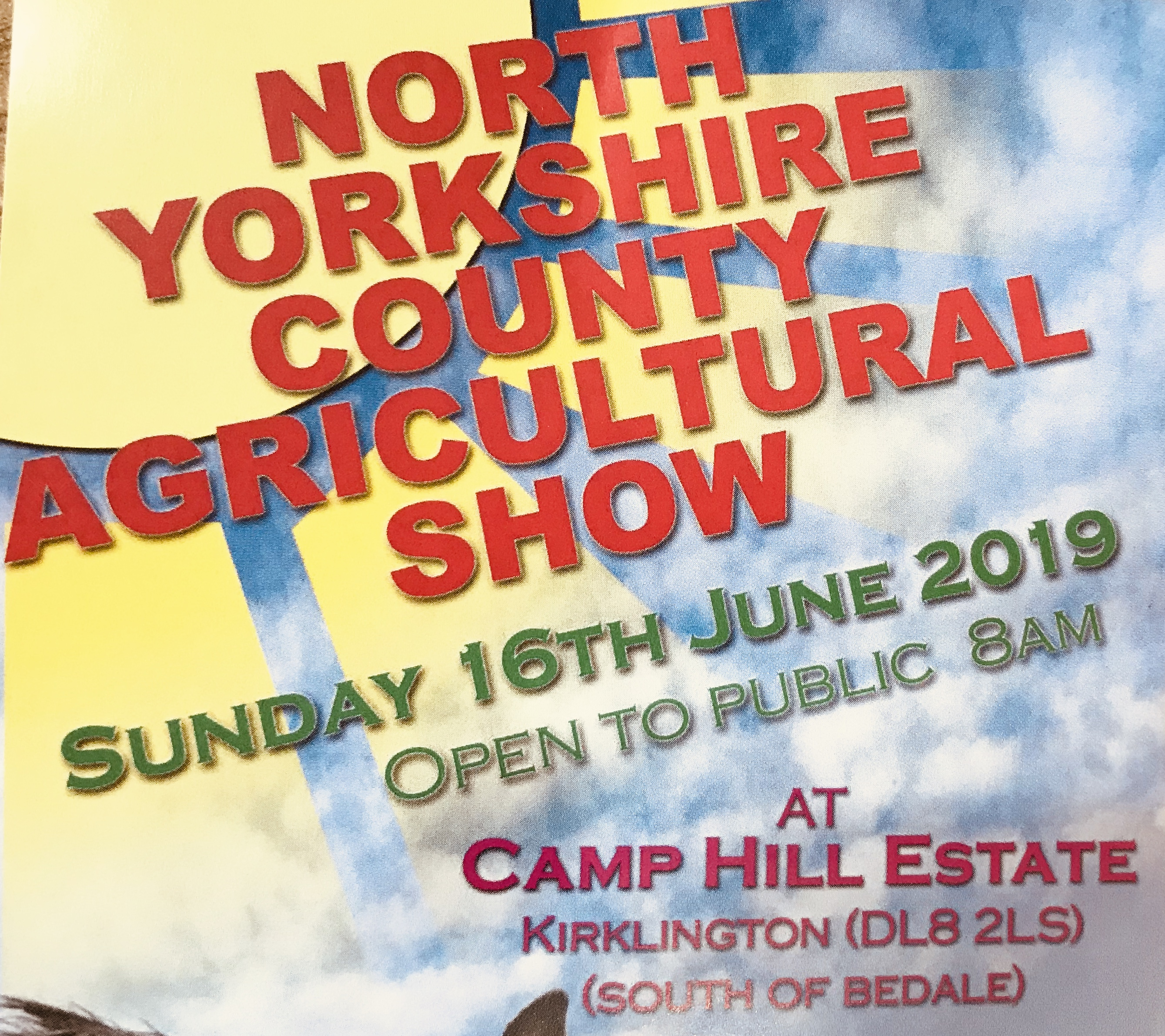 Agricultural Show 16th June!