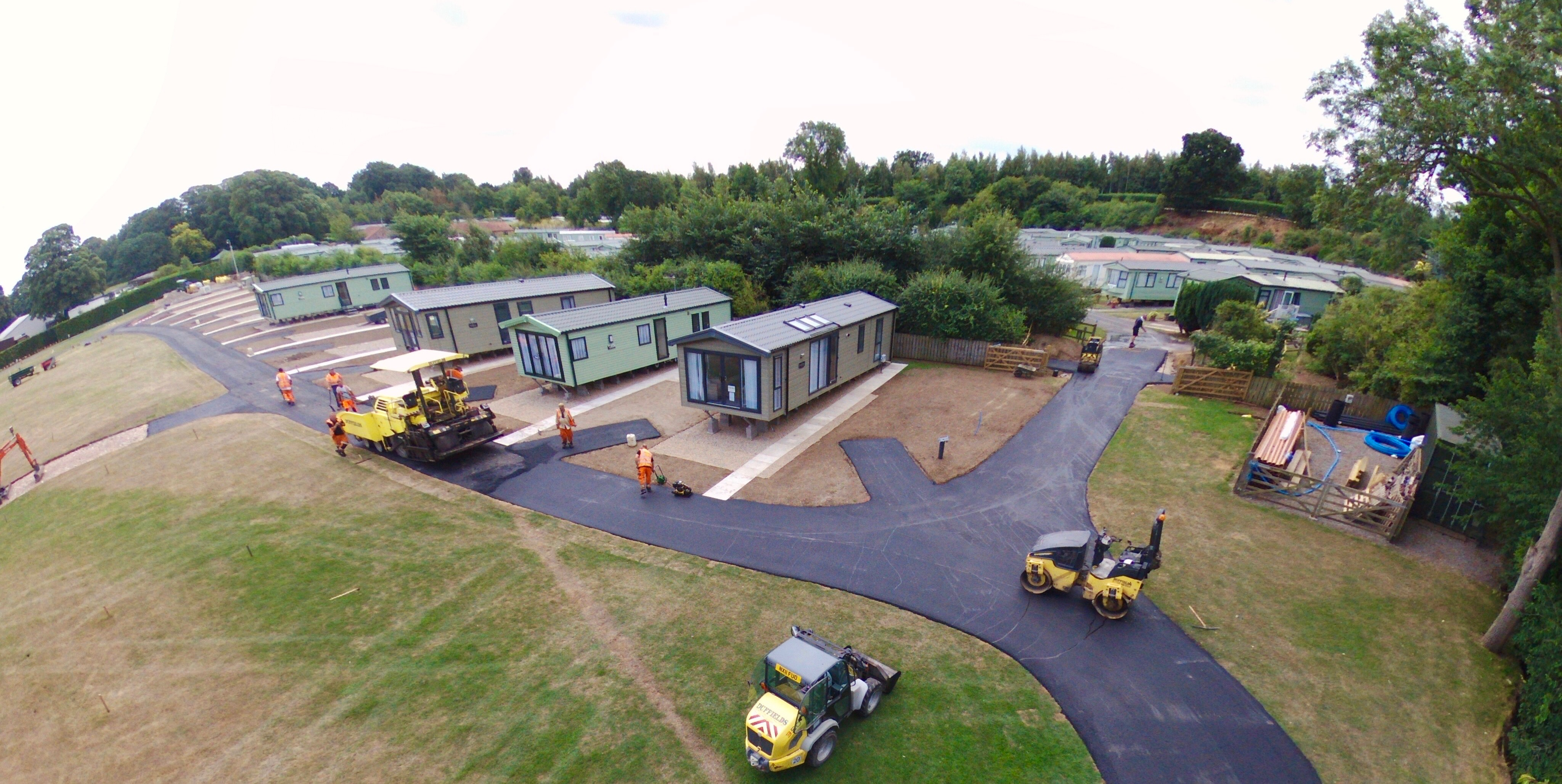 24th July - Tarmac going down!